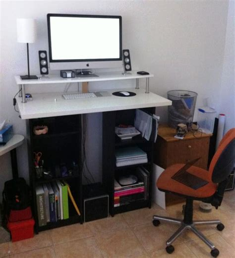 staples allston standing desk simple and cheap wood stand up computer desk duallevel