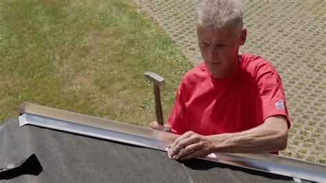 ortblech mit wasserfalz montage eines ortblechs mit wasserfalz installation of drip edge no 3