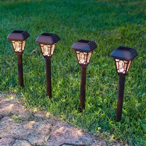 4 edwardian solar stake lights lights4fun co uk