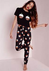 Pyjama Party Outfit : christmas pudding pyjama set black nightwear pyjamas missguided pyjamas pinterest ~ Eleganceandgraceweddings.com Haus und Dekorationen