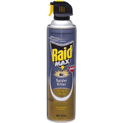 spider spray raid max insect spray spider killer 375g woolworths