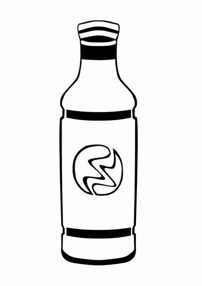 Bottle Coloring Pages Animated Bottles Drinks Preschool