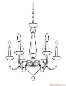 how to draw a chandelier step by step drawing tutorials