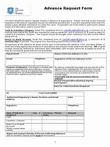 Cash Advance Request Form Doc
