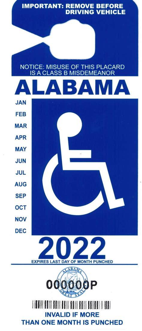 standard disability access tags alabama department