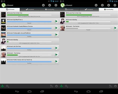 torrent on android tracker utorrent android