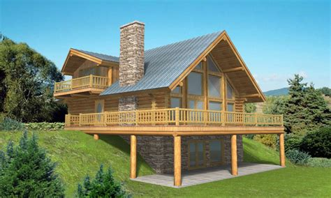 Log Home Plans With Basement Log Home Plans With Garages