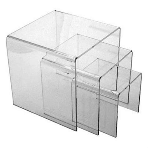 table top display risers custom retail store table top clear acrylic tiered riser