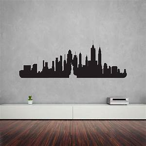 new york city skyline wall art decal by vinyl revolution With vinyl wall stickers
