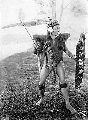 Dayak Warrior with Sword & Shield Baram Borneo 1912 6x5 Inch Reprint Photo | Borneo, Polynesian