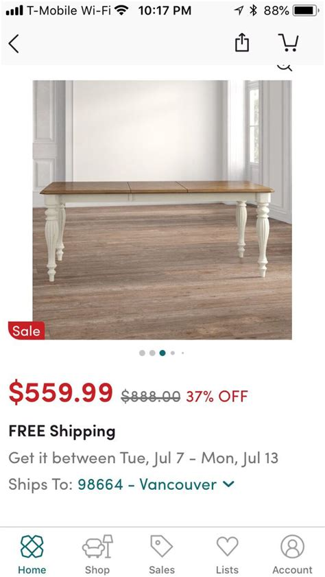 cambrai extendable dining table  sale  vancouver wa offerup