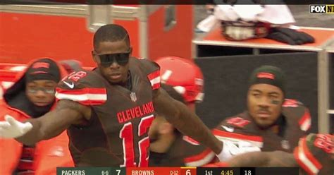 packers  browns cleveland wrs   pair  touchdown