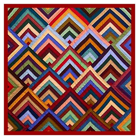 The Concentric Chevrons Inspired By An Amish Quilt Counted