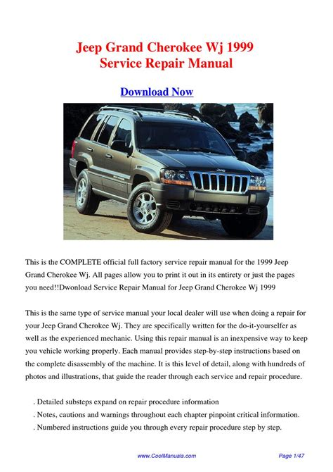 free online car repair manuals download 1999 jeep wrangler electronic throttle control 1999 jeep grand cherokee transflow manual jeep grand cherokee 1999 2004 service repair