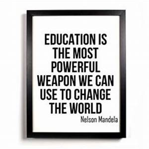 Education Is The Most Powerful Weapon Poster : 1000 images about inspiration and quotes on pinterest nelson mandela cyprus and happy woman day ~ Markanthonyermac.com Haus und Dekorationen