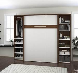 Lit Escamotable 2 Places : lits muraux lit escamotable 2 places 98 bestar ~ Melissatoandfro.com Idées de Décoration
