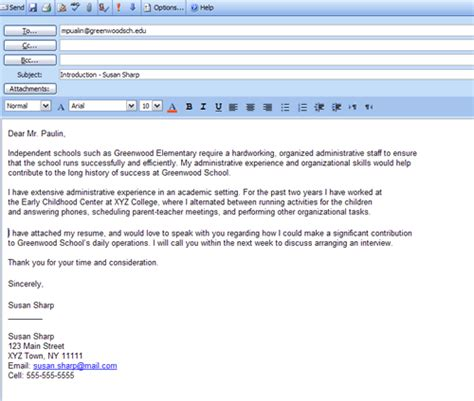 formats  sending job search emails resume cover