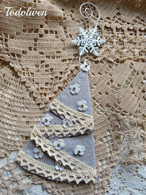 handmade ornaments drop cloths  vintage shabby chic
