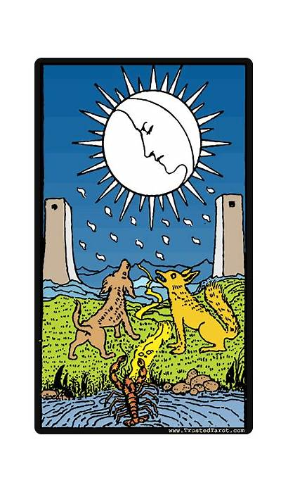 Moon Tarot Card Cards Meanings Person Trusted