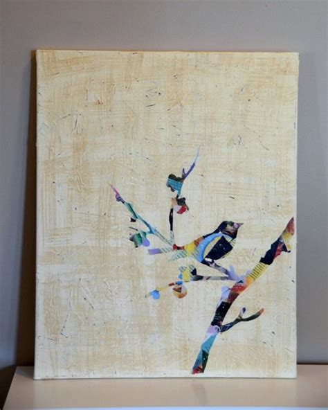 Diy Leinwand Collage by Make A Mod Podge Silhouette Canvas Kunst