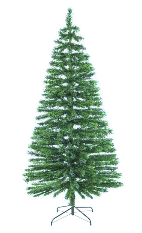 8 ft fiber optic green artificial holiday christmas tree