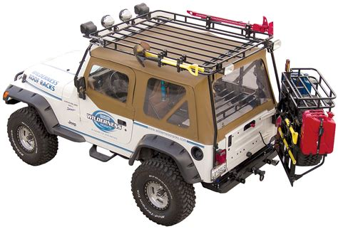 jeep safari rack garvin 34098 wilderness expedition rack for 97 06 jeep