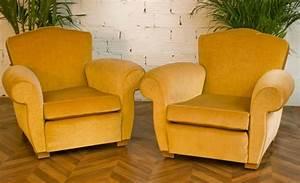 Mobilier En Anglais : fauteuil club fauteuil salon 1950 vintage velours ann es 50 fauteuils anciens mobilier ~ Melissatoandfro.com Idées de Décoration