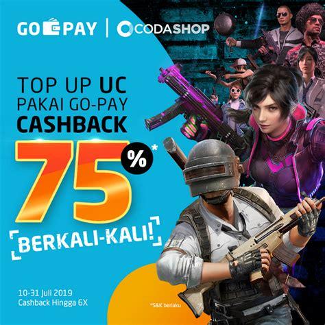 top  uc pubg mobile pakai  pay bisa  cashback