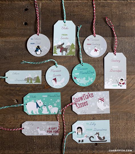 kids polar christmas labels  tags worldlabel blog