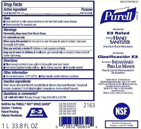 PURELL Advanced E3 Rated Instant Hand Sanitizer (liquid