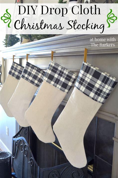 diy drop cloth christmas stocking  home   barkers
