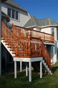 interesting patio railing design ideas Hand Made Custom Mahogany Mortise And Tenon Deck Railing ...