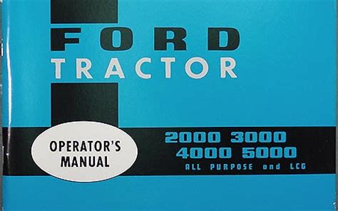 ford tractor owners manual reprint