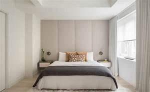 tete de lit avec rangement pour une chambre plus organisee With chambre a coucher contemporaine design