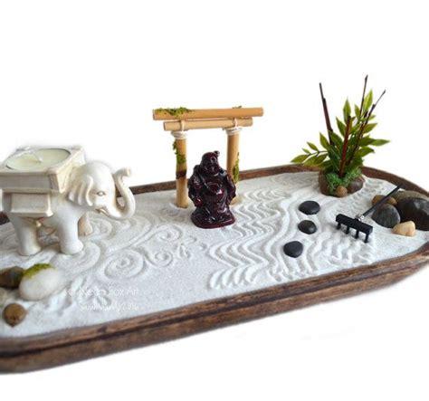 Zen Garden  Miniature Buddha Statue Centerpiece
