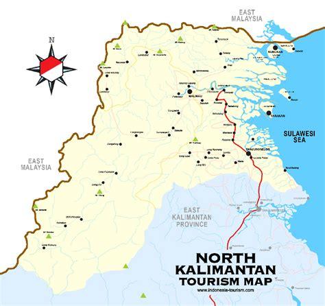 north kalimantan map