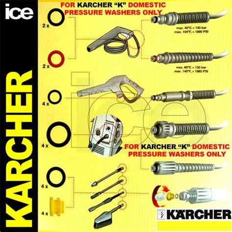 official karcher domestic pressure washer gun hose oring seals spare parts set  ebay