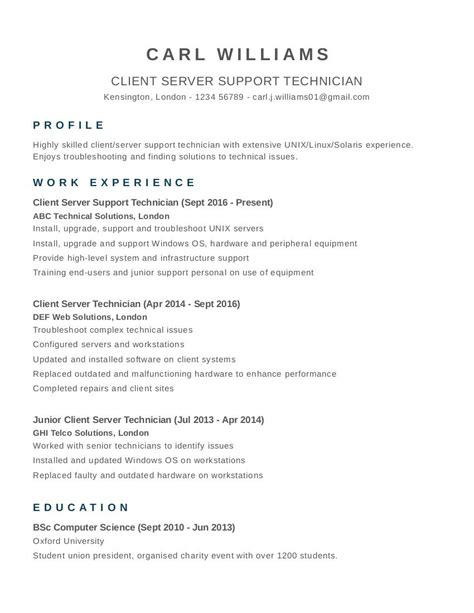Cv Template Uk by Free Cv Templates Exles And Tips Career Uk