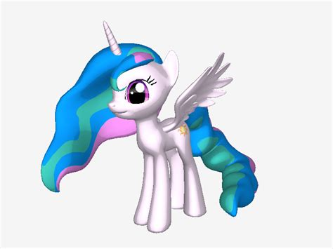 Ponylumen Princess Celestia In 3d Pony Creator By