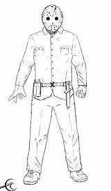 13th Friday Ec87 Deviantart 2009 Jason Drawings Fan Th Pre sketch template