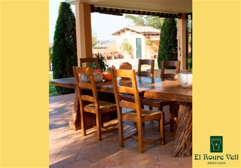 mesa rectangular el roure vell muebles rusticos en
