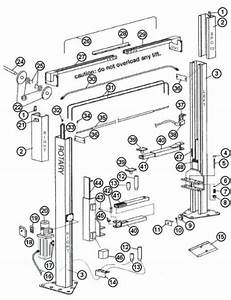 Parts Breakdown For Rotary Model Spo12 Lift  Svi International