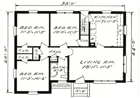 Online Architectural Floor Plan Analysis