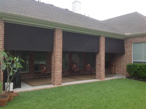Outdoor Shades For Patio by Manual Roll Up Patio Shades American Sunscreens By