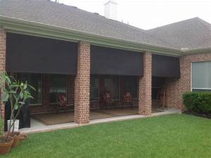 Roll down outdoor patio shades icamblog for Exterior sun shades for patios