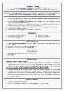 best resume format for mechanical engineers freshers pdf mechanical engineer fresher resume format
