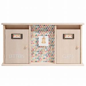 Boîte à Clés : bo te cl s courrier en bois h 25 cm seventies maisons du monde ~ Teatrodelosmanantiales.com Idées de Décoration
