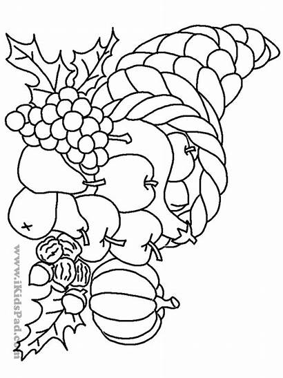 Coloring Fall Autumn Printable Harvest Printables Fruit