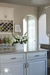 Perfect greige sherwin williams home pinterest for Kitchen colors with white cabinets with wall art stone
