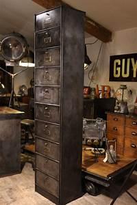 Meuble Industriel Vintage : meuble industriel ancien a clapets meuble industriel vintage de renaud jaylac pinterest ~ Teatrodelosmanantiales.com Idées de Décoration